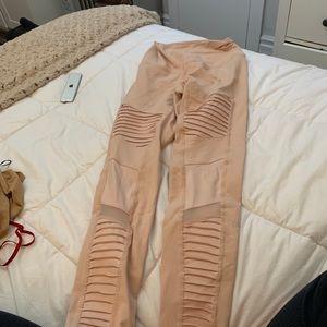 ALO light pink leggings